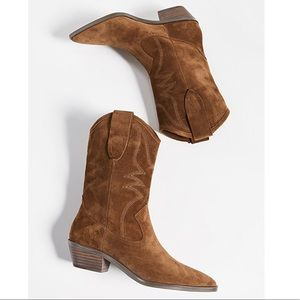 Rebecca Minkoff Kaiegan saddle suede cowboy boots